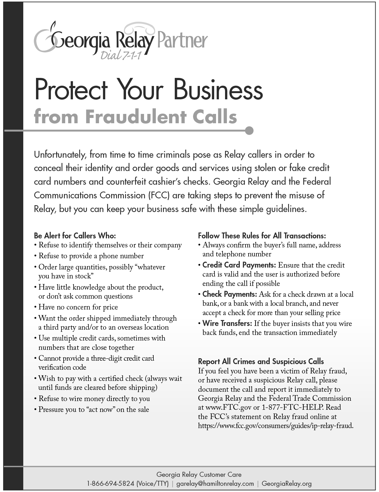 Protect Your Business Snapshot