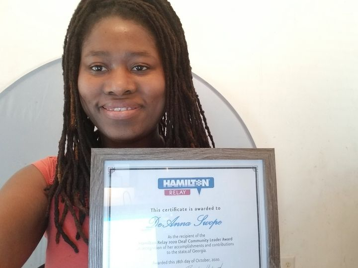 Hamilton Relay 2020 Deaf Community Leader Award